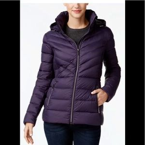 Michael Kors Packable Puffer Jacket purple XS
